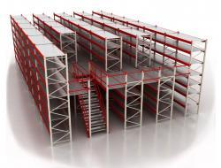 Мезонинный стеллаж для склада