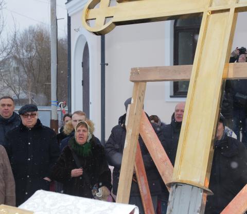 Владимир Ресин: На храм в честь преподобного Сергия Радонежского в Тушине установлен крест