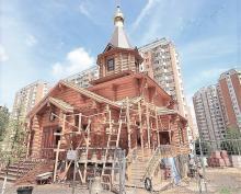 Владимир Ресин: Завершается строительство деревянного храма в Ховрино